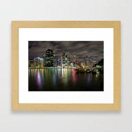 Brisbane by night Framed Art Print