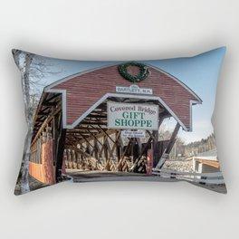 Bartlett Covered Bridge Bartlett New Hampshire Rectangular Pillow