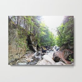 Walking Through the Falls Metal Print