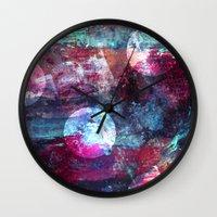 night sky Wall Clocks featuring Night Sky by Marlidesigns