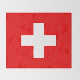 Flag of Switzerland 2x3 scale Throw Blanket