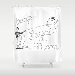 It's a Wonderful Life - George Lassos the Moon Shower Curtain