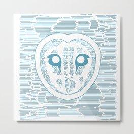 Owl Lines Metal Print