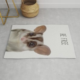 Baby Sugar Glider Print, Australian Nursery Animal Decor - Printed Wall Art Rug