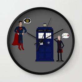 Doctor's Got Some Explaining To Do Wall Clock