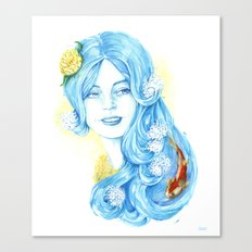 Lady Water / Dame Eau Canvas Print
