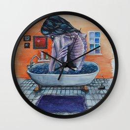 Bathtub Girl Wall Clock