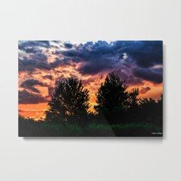 Dry Day Sunset Metal Print