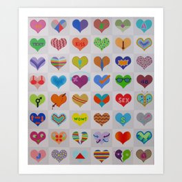 My Hearts, My Love! Art Print