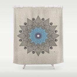 Digital Mandala #5 Shower Curtain