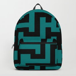 Black and Teal Green Labyrinth Backpack