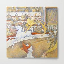 "Georges Seurat ""The Circus"" Metal Print"