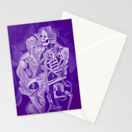 Halloween Skeleton Welcoming The Undead Stationery Cards