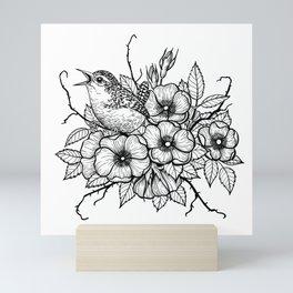 Wren bouquet Mini Art Print