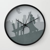final fantasy Wall Clocks featuring Final Fantasy VII by [SilenceCorp.]