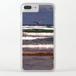 Seagulls Among the Waves Clear iPhone Case