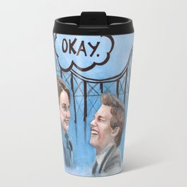 A roller coaster that only goes up Travel Mug
