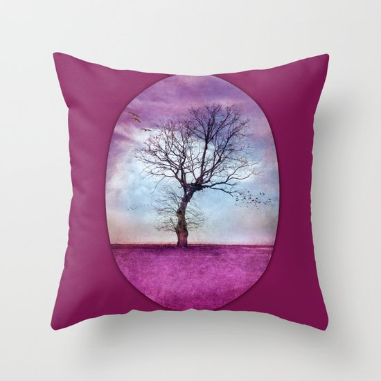ATMOSPHERIC TREE | Pink Morning Throw Pillow