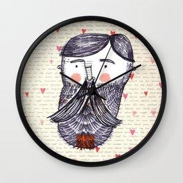 Bearded Lumberjack Man Wall Clock