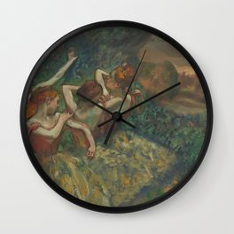 Four Dancers Wall Clock