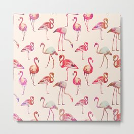 Flamingo Happiness Metal Print