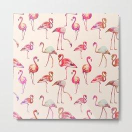 Flamingo Happiness Metal Print