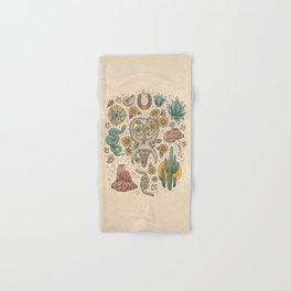The Desert Sunflowers | Dinosaur Southwest Adventure Art | Natural History Explorer Hand & Bath Towel