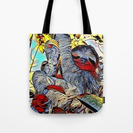 Color Kick -Sloth Tote Bag