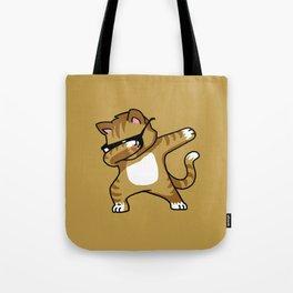 Dabbing Cat Caramel Tote Bag