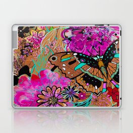 Neon Butterflies Laptop & iPad Skin