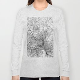 Vintage Map of Richmond Virginia (1934) BW Long Sleeve T-shirt