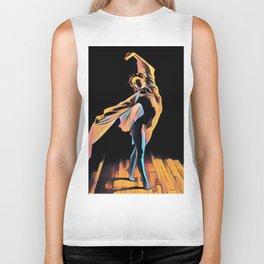 3306s-EH Dancing Woman Rendered in Pastel Female Figure by Chris Maher Biker Tank