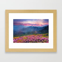 Blooming mountains Framed Art Print
