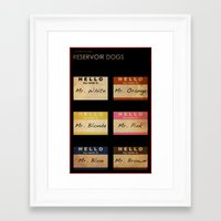 reservoir dogs Framed Art Prints featuring Reservoir Dogs by Billy Ludwig
