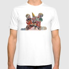 Party Time White Mens Fitted Tee MEDIUM
