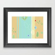 izzy may's garden Framed Art Print
