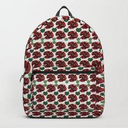 Garnets and fractal hearts Backpack