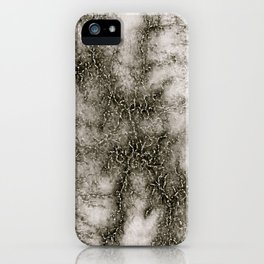 Gray Marble Pattern Black And Silver Vined iPhone Case