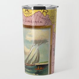 Vintage Map of Maryland with Illustrations (1890) Travel Mug