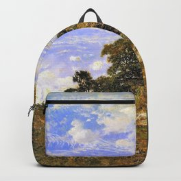 The Edge Of The Woods At Monts-girard, Fontainebleau Forest - Theodore Rousseau Backpack