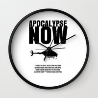 apocalypse now Wall Clocks featuring Apocalypse Now Move Poster by FunnyFaceArt