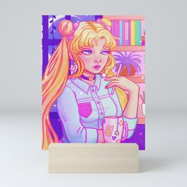 Tea with Usagi Mini Art Print