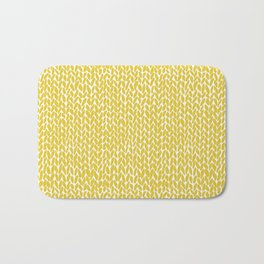 Hand Knit Yellow Bath Mat