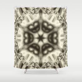 Sepia jewelled kaleidoscope splendor Shower Curtain