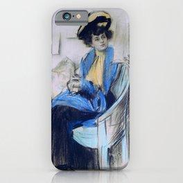Ramon Casas - Mademoiselle Clo - Digital Remastered Edition iPhone Case