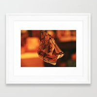 pirate ship Framed Art Prints featuring Pirate Ship by Tasha Grabowski
