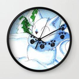Snowcat Wall Clock