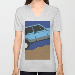 Blue SUV Unisex V-Neck