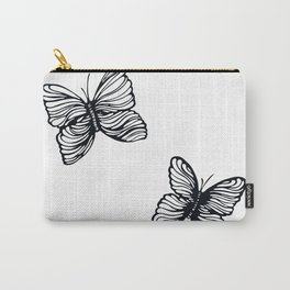black and white butterfly drawing Carry-All Pouch