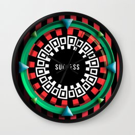 Playing roulette of a successful champion Wall Clock